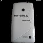 Huawei Ascend P6 чехол силиконовый волна (белый)