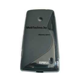 HTC Desire 300 чехол силиконовый волна (черный)