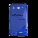 Huawei Ascend G510 U8951  чехол силиконовый волна, синий