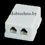 Телефонная розетка Евро-2 6P-2C Proconnect 03-0002-4 (белая)